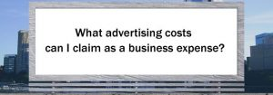 claiming advertising costs as a business expense