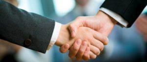 Freelance work: shaking hands