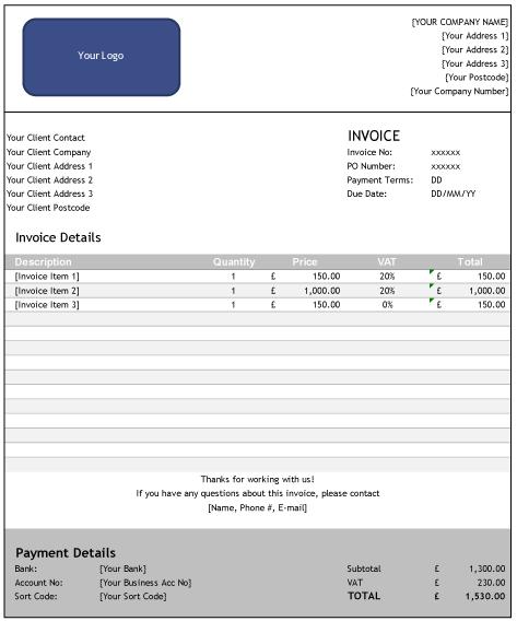 Free Invoice Template Design 1 Boox